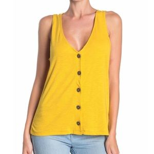 NWT Sanctuary Front Button V-Neck Knit Tank Top